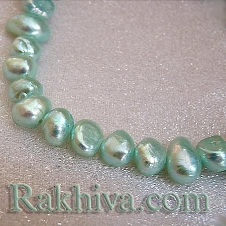 Естествени перли (култивирани) - св.синьо