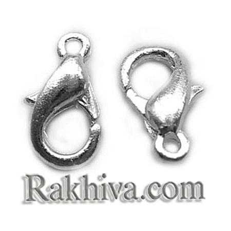Метална закопчалка - цвят сребро, сребро (20 бр.) E102-S