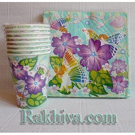 Хартиени чашки за парти  Приказна градина, чашки за парти/ 8 бр. (622200)