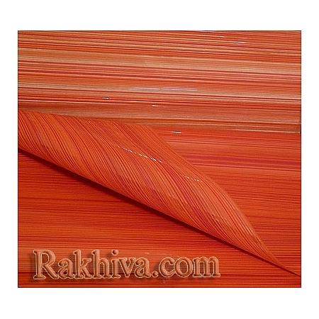 Двуцветен целофан за цветя, Елеганс/ оранжево, червено (50/50/11375-80)