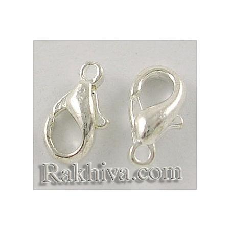 Метална закопчалка - цвят сребро, сребро (20 бр.) E103-S