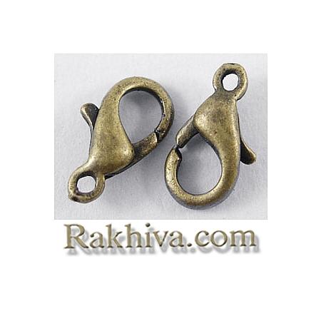 Метална закопчалка - цвят бронз, бронз (20 бр.) E103-NFAB
