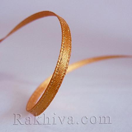 Сатен със злато - антично злато, 9 мм/4.5 м (9/5/690)