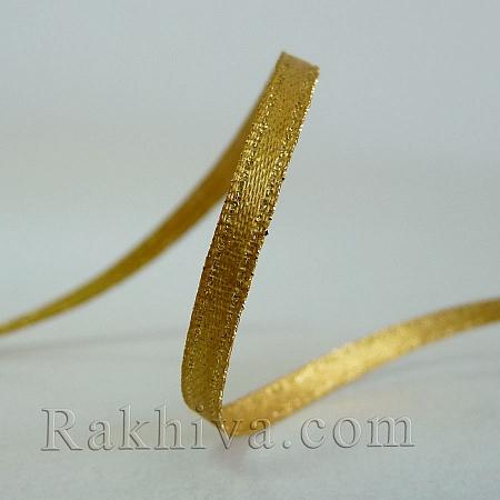 Сатен със злато - злато, 9 мм/4.5 м (9/5/687)
