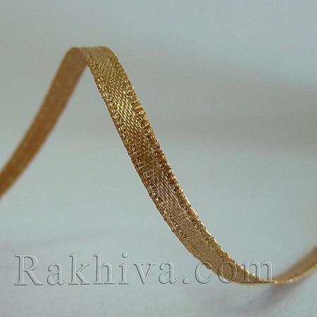 Сатен със злато - натурал, 9 мм/4.5 м (9/5/826)