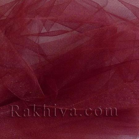 Кристален тюл - бордо, бордо за 1 линеен м (3 кв. м) 85/86