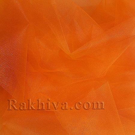 Кристален тюл - оранжево, оранжево за 1 линеен м (3 кв. м) 85/75
