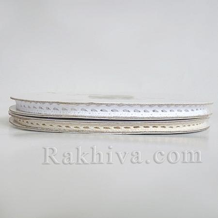 Ретро дантела (памучна), антично бяло, 6мм X 9.1м (06/91/T356/09/10)