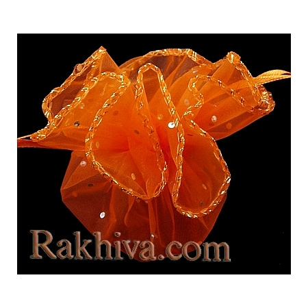 Торбички от органза - кръг оранжево, 26 см, (26/8275)