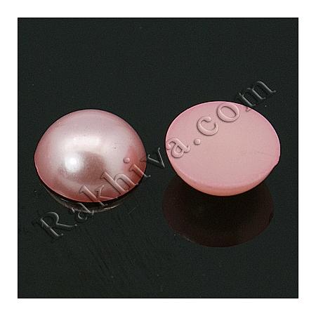 Перли полусфери за залепяне, за декорация, за украса - цвят розово