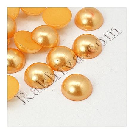 Перли полусфери за залепяне, за декорация, за украса - цвят злато, 5мм/2,5мм/500 бр. (OACR-H001-4C)