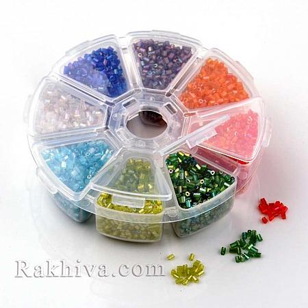 Мъниста тръбички - стъклени, 1 кутия (SEED-X0028-B-1)