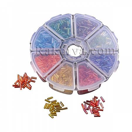 Мъниста тръбички - стъклени, 1 кутия (SEED-MSMC002-01)