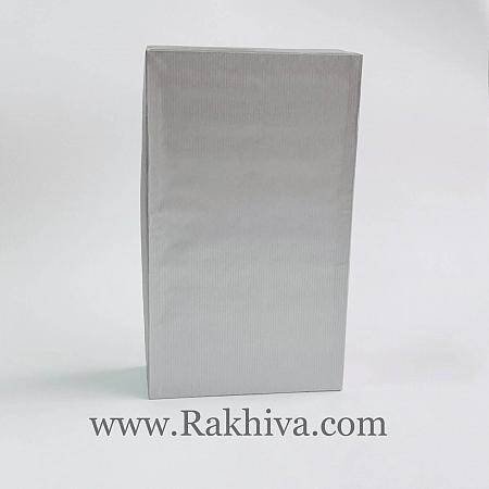 Кутия за подарък, правоъгълник Цвят сребро, П1(12cm/7cm/ h=4cm)