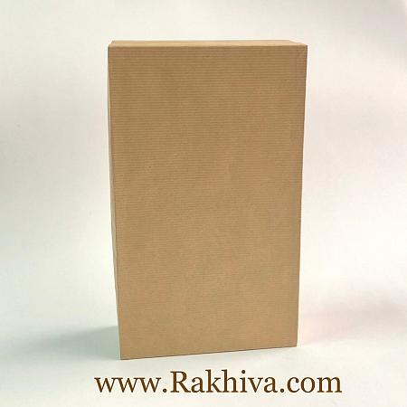 Кутия за подарък, правоъгълник Цвят натурал, П1(12cm/7cm/ h=4cm)