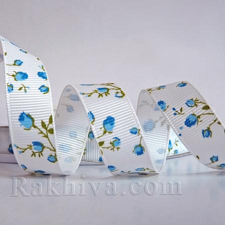 Релефен сатен Рози, 16мм/ 4.5 м (синьо) (16/5/156/154/OCOR-S011-16mm-01)