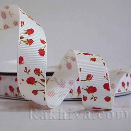 Релефен сатен Рози, 16мм/ 4.5 м (червено) (16/5/156/154/OCOR-S011-16mm-02)
