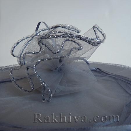 Торбички от органза - кръг сребро, 26 см, (26/84300)