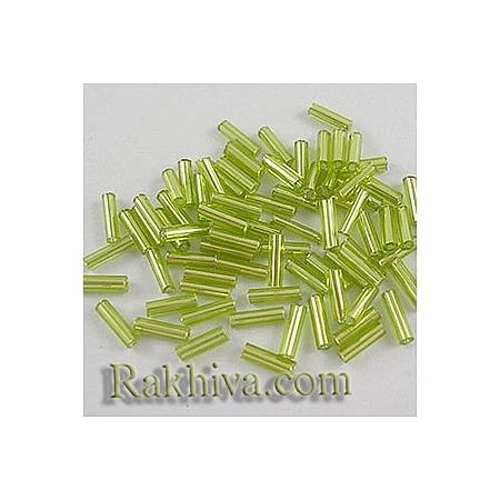 Мъниста продълговати с блясък , маслина 1 пакет 50 гр. (TSDB6mm24 / TSDB6MM164)