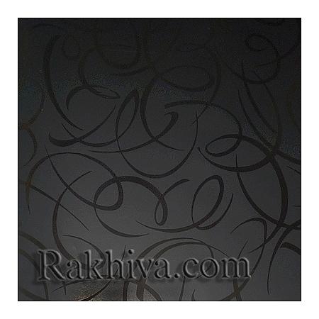 Луксозна италианска хартия за опаковане Star (метализе), 055/61 (черно, черно)