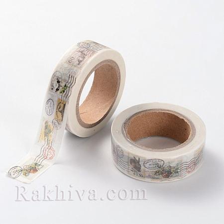 Декоративно тиксо Мина, Пощенско клеймо (DIY-A002-MOGA22)