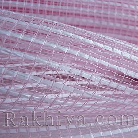 Двуцветна мрежа за цветя Фантазия (Корея) цвят розово с бяло, розово, бяло (9 ярда) (44/40-10)