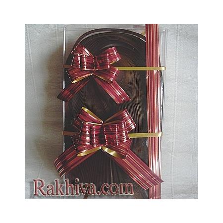 Дърпащи панделки метализе (Италия), 2 см/ 40 см микс от цветове
