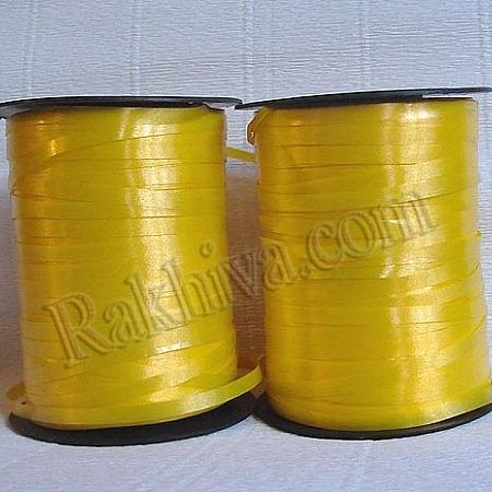 Тънки панделки за балони, 1 ролка 0.5см/ 500ярда 5/500/2870 (жълто)