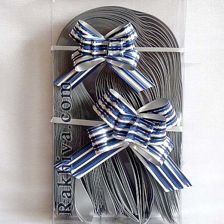 Дърпащи панделки метализе (Италия), 2 см/ синьо (20/40/1516655)