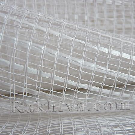 Двуцветна мрежа за цветя Фантазия (Корея) цвят бяло, бяло  (8 ярда) (44/10)