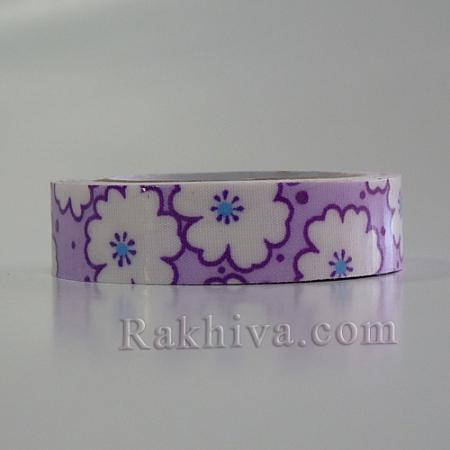 Декоративно тиксо Цветя, лилаво (OCOR-S071-03)