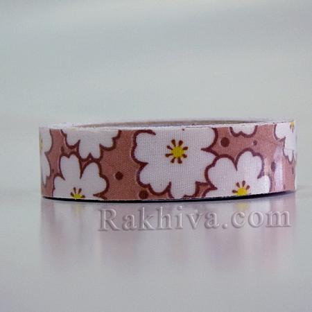 Декоративно тиксо Цветя, шоколад (OCOR-S071-02)