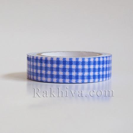 Декоративно тиксо Каре, синьо (DIY-A003-D04)