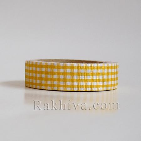 Декоративно тиксо Каре, жълто (DIY-A003-D06)