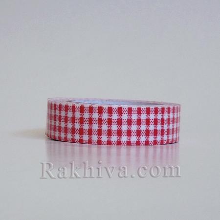 Декоративно тиксо Каре, червено (DIY-A003-D07)