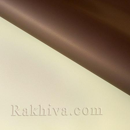 Италиански целофан Двуцветни (екрю и тъмен шоколад), 100 см х 100 см (листи) ( 100/100/3/12-34)