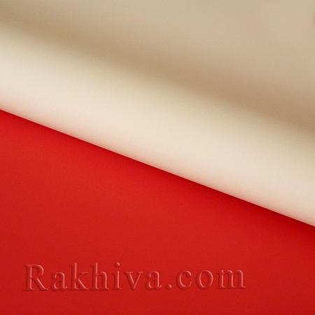 Италиански целофан Двуцветни (натурал, червено), 100 см х 100 см (листи) (100/100/3/30-80)