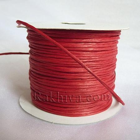 Хартиен шнур с тел, червено (2/25/6180) ролка 22,50м