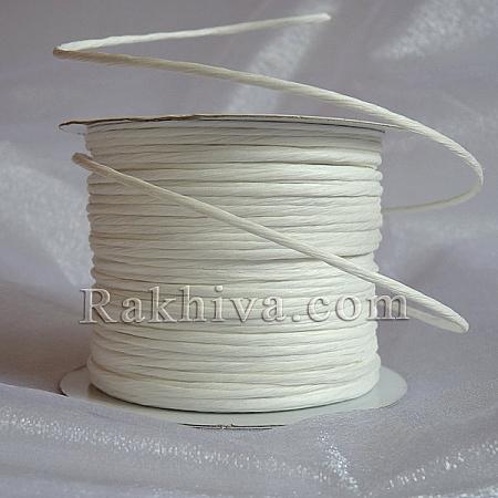 Хартиен шнур с тел, бяло (2/25/6110) (ролка 22,50м)