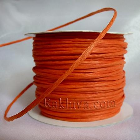 Хартиен шнур с тел, оранжево (2/25/6175) ролка 22,50 м