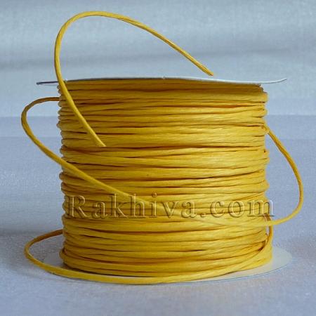 Хартиен шнур с тел, патешко жълто (2/25/6172) (ролка 22,5м)