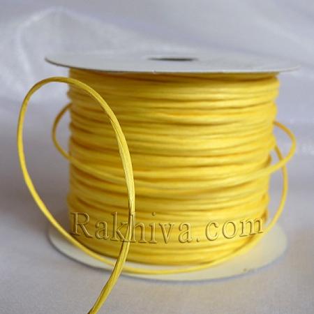 Хартиен шнур с тел, светло жълто (2/25/6170) (ролка 22,50м)