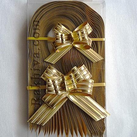Дърпащи панделки метализе (Италия), 2 см/ злато  (20/40/15166200)