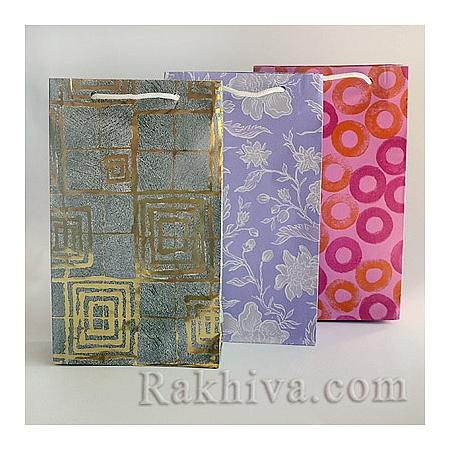 Хартиени торбички (цветни), цветя,мъжко (големи)