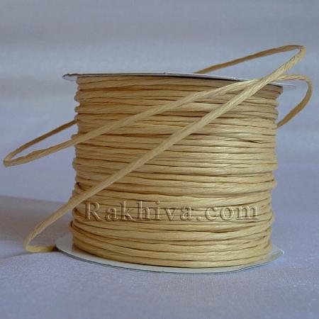 Хартиен шнур с тел, натурал (2/25/6130) (ролка 22,50м)