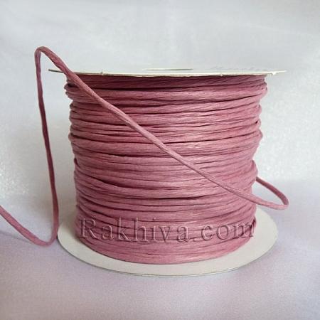 Хартиен шнур с тел, пепел от рози (2/50/6149) (50 метра)