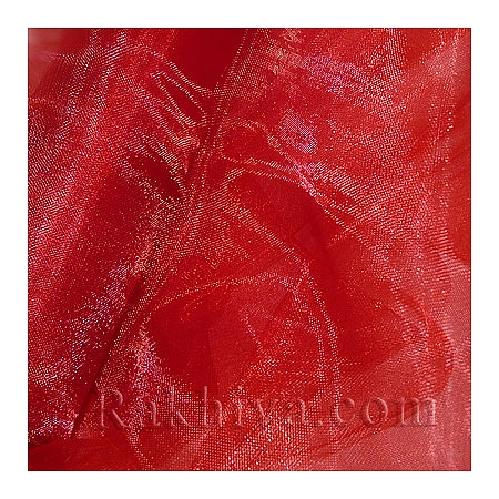 Панделка органза 16 см, червено (16/9/3680)