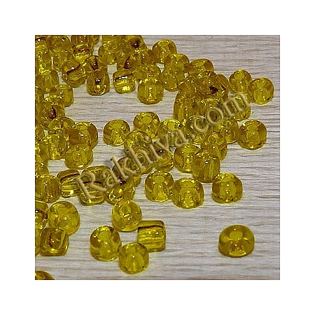 Мъниста, жълто 4mm /50гр. (SEED-A004-4MM-10/ LX0H4)