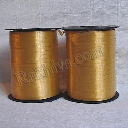 Тънки панделки за балони, 1 ролка 0.5см/ 500ярда 5/500/28200 (злато)