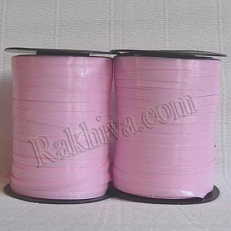 Тънки панделки за балони, 1 ролка 0.5см/ 500ярда 5/500/2841 (розово)